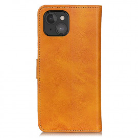Casecentive Leather Wallet case with closure iPhone 13 Mini brown
