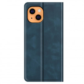 Casecentive Magnetic Leather Wallet case iPhone 13 Mini blue