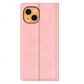 Casecentive Magnetic Leather Wallet case iPhone 13 pink