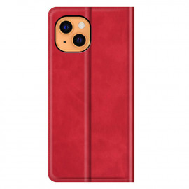 Casecentive Magnetic Leather Wallet case iPhone 13 red