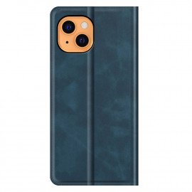 Casecentive Magnetic Leather Wallet case iPhone 13 blue