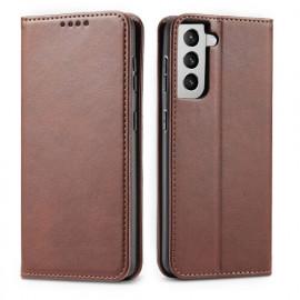 Casecentive Leren Wallet case Luxe Samsung Galaxy S21 bruin
