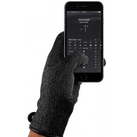 Mujjo Single-Layered Touchscreen Gloves (L) zwart
