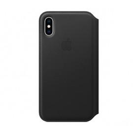 Apple leather Folio case iPhone XS Black