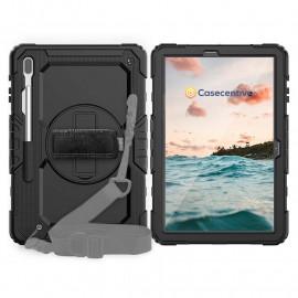 Casecentive Handstrap Pro Hardcase with strap Galaxy Tab A 8.4 2020 black