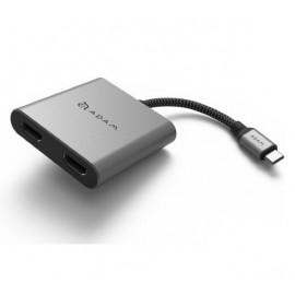 ADAM elements CASA Hub H2 Grey USB-C 3.1 HDMI x2 grijs