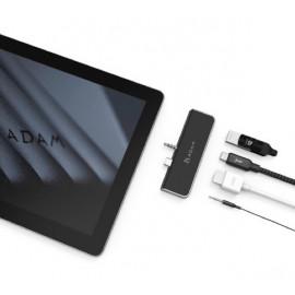 ADAM elements CASA Hub S4 USB-C 3.1 4 port Surface Go zwart