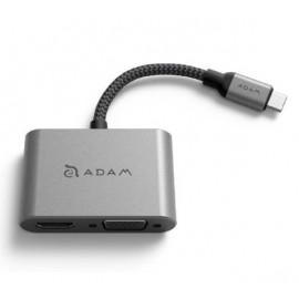 ADAM elements CASA Hub VH1 USB-C 3.1 to VGA / HDMI grijs
