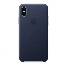 Apple leather case iPhone XS Max Midnight Blue