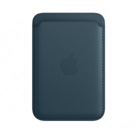 Apple Leather Card Holder with MagSafe for iPhone Baltic blue