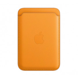 Apple Leather Card Holder with MagSafe for iPhone California poppy