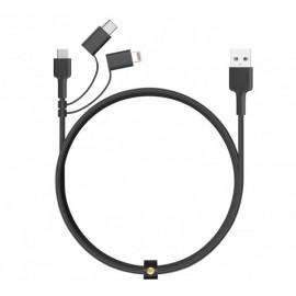 Aukey 3-in-1 kabel USB-A naar USB-C Micro USB en lightning 1.2m