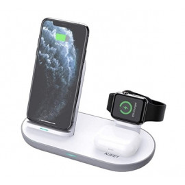 Aukey 3-in-1 Wireless Charging Station white
