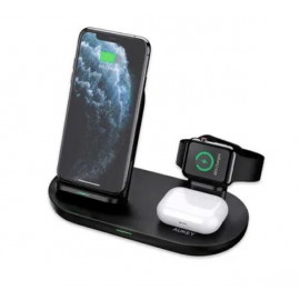 Aukey 3-in-1 Wireless Charging Station Black