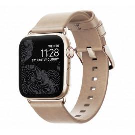 Nomad Modern slim leather strap Apple Watch 38 / 40 mm goud