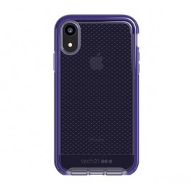 Tech21 Evo Check iPhone XR transparant / paars