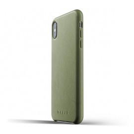 Mujjo Leather Case iPhone XS Max groen