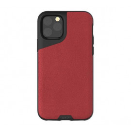 Mous Contour Leather iPhone 11 Pro Max rood
