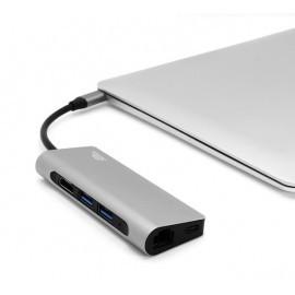 intelliARMOR USB-C 8 in 1 MacBook LynkHub Max space gray