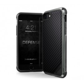 X-Doria Defense Lux cover iPhone 7 / 8 / SE 2020 zwart