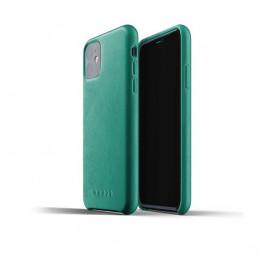 Mujjo Leather Case iPhone 11 groen
