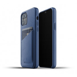 Mujjo Leather Wallet Case iPhone 12 Max / Pro blauw