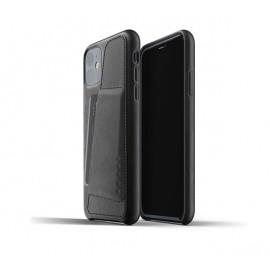 Mujjo Leather Wallet Case iPhone 11 zwart