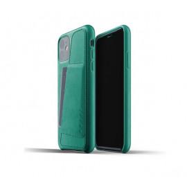 Mujjo Leather Wallet Case iPhone 11 groen