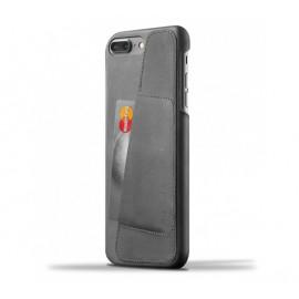 Mujjo Leather Wallet Case iPhone 7 / 8 Plus grijs