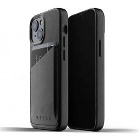 Mujjo Leather Wallet Case iPhone 13 black
