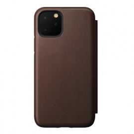 Nomad Rugged Folio Leather Case iPhone 11 Pro bruin