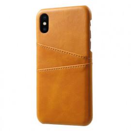 Casecentive Leren Wallet back case iPhone X / XS tan