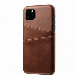 Casecentive Leren Wallet back case iPhone 11 bruin