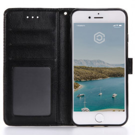 Casecentive Leren Wallet case iPhone 7 / 8 / SE 2020 zwart