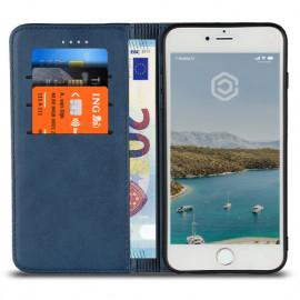 Casecentive Leren Wallet case iPhone 7 / 8 Plus blauw