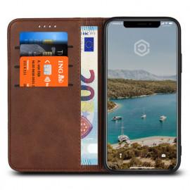 Casecentive Leren Wallet case iPhone X bruin