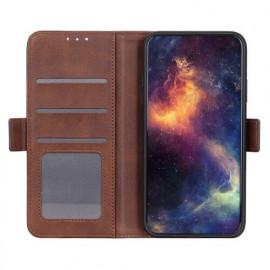 Casecentive Magnetische Leren Wallet case iPhone 12 bruin
