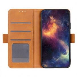 Casecentive Magnetische Leren Wallet case iPhone 12 tan
