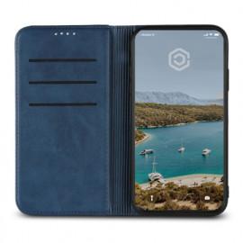 Casecentive Leren Wallet case iPhone XR blauw