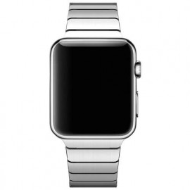 Casecentive Slim Stainless Steel Watch Strap Apple Watch 42 / 44 mm zilver