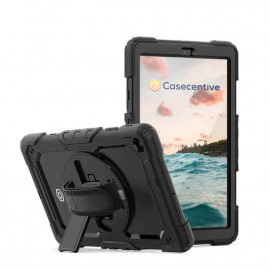 Casecentive Handstrap Pro Hardcase met handvat Galaxy Tab A7 10.4 2020 zwart
