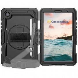 Casecentive Handstrap Pro Hardcase with handstrap Galaxy Tab A7 Lite 8.7 2020 black