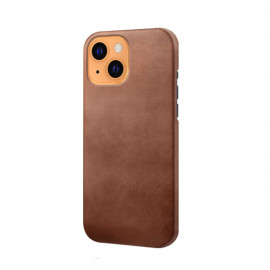 Casecentive Leather Back case iPhone 13 brown
