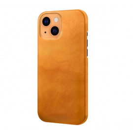 Casecentive Leather Back case iPhone 13 tan