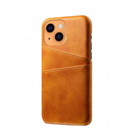 Casecentive Leather Wallet Back case iPhone 13 tan