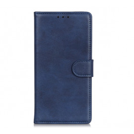 Casecentive Leather Wallet case with closure iPhone 13 blue