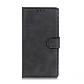Casecentive Leather Wallet case with closure iPhone 13 black