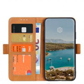 Casecentive Magnetische Leren Wallet case iPhone 12 Pro Max tan