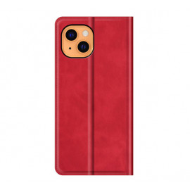 Casecentive Magnetic Leather Wallet case iPhone 13 Mini red