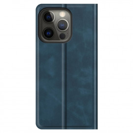 Casecentive Magnetic Leather Wallet case iPhone 13 Pro Max blue
